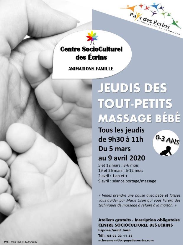 AFFICHE - JEUDIS DES TOUT PETITS - massage bébé-page-001